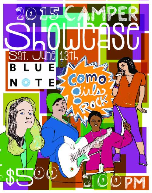 CoMo Girls Rock Showcase Poster 2015