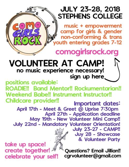 volunteer handbill